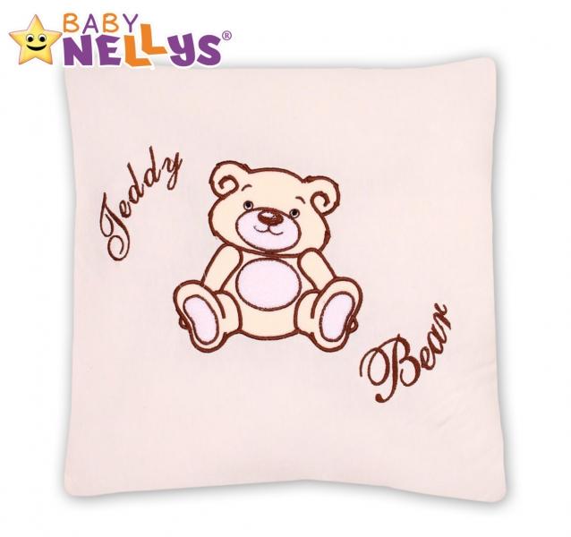 Baby Nellys Vankúšik 40x40 Teddy Bear - smotanový