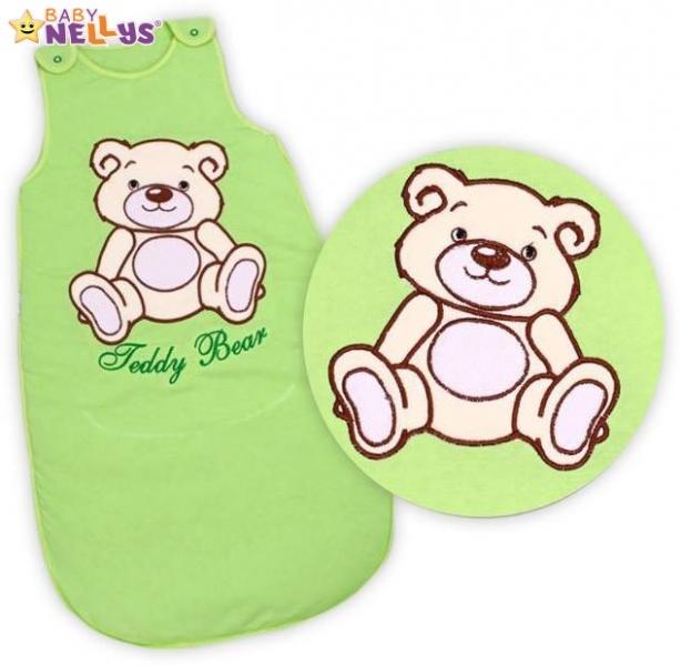 Spací vak Medvedík Teddy Baby Nellys - sv. zelený vel. 1