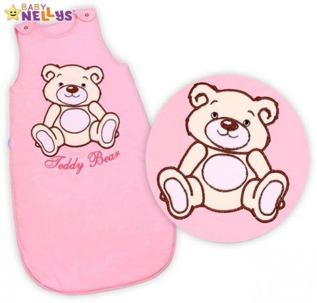 Spací vak Medvedík Teddy Baby Nellys - sv. ružový veľ. 0+