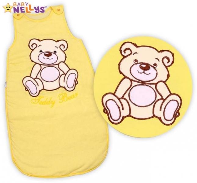 Spací vak Medvedík Teddy Baby Nellys - žltý / krémový vel. 2