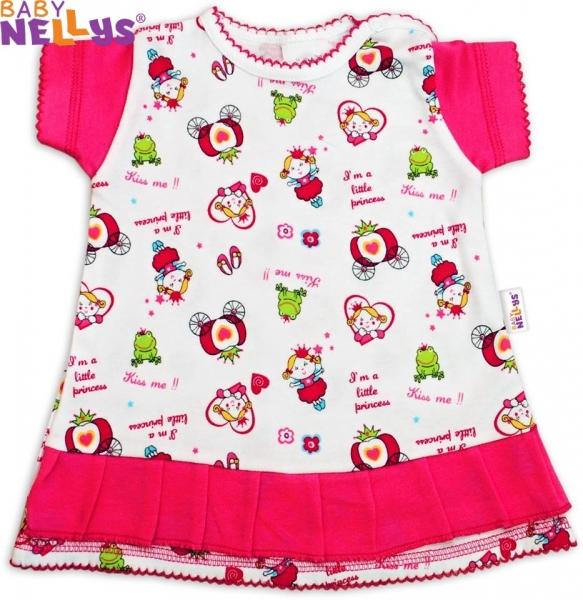 Šatičky Baby Nellys ® Princezná ružová