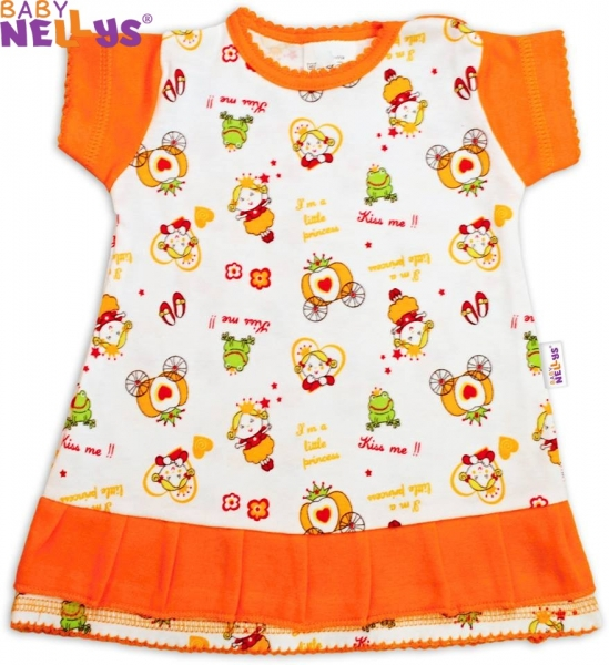 Šatičky Baby Nellys ® Princezná pomaranč