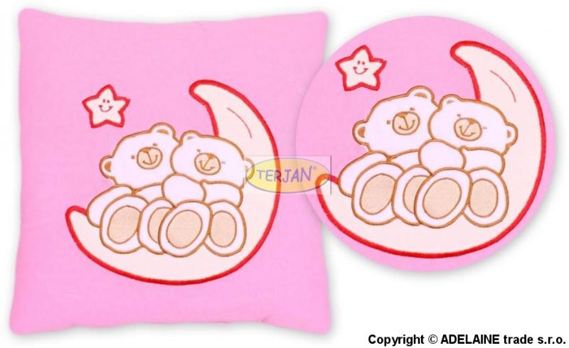 Vankúšik 40x40 Mišovi na nechtíka - ružový