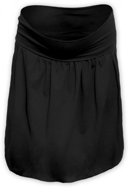 Tehotenská sukňa z úpletu balónová - čierna