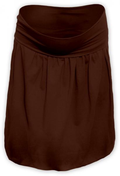 Tehotenská sukňa z úpletu balónová - hnědá