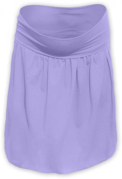 Tehotenská sukňa z úpletu balónová - lila
