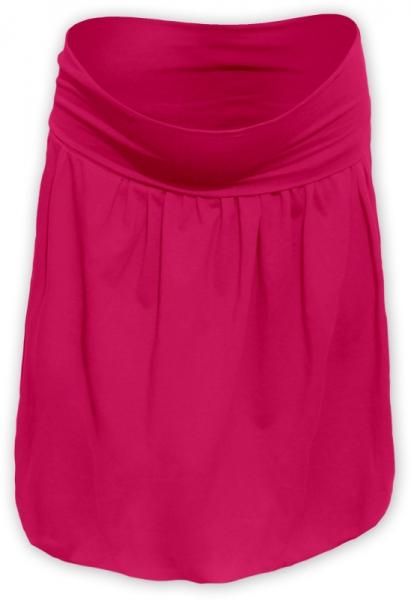 Tehotenská sukňa z úpletu balónová - malinová