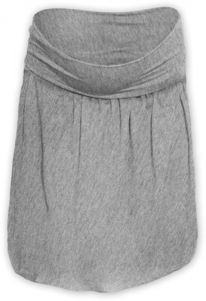 Tehotenská sukňa z úpletu balónová - šedý melír