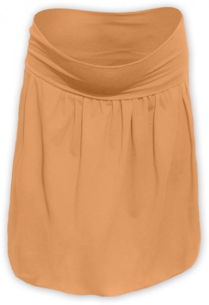 Tehotenská sukňa z úpletu balónová - oranž