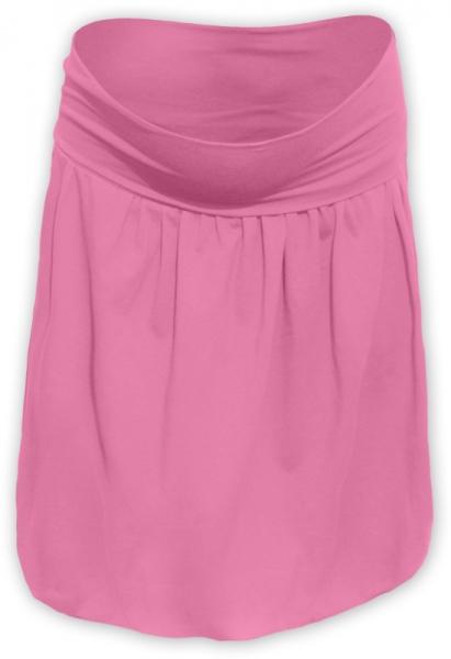 Tehotenská sukňa z úpletu balónová - ružová