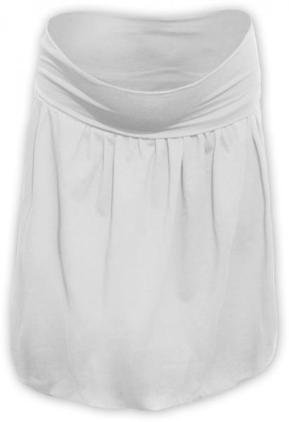 Tehotenská sukňa z úpletu balónová - smetanová