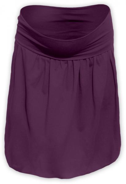 Tehotenská sukňa z úpletu balónová - švestková