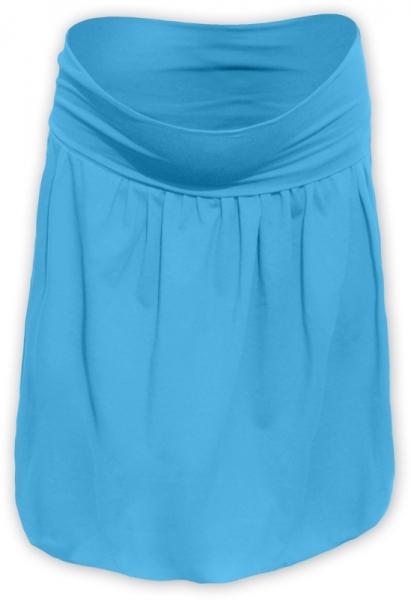 Tehotenská sukňa z úpletu balónová - tyrkys sv.