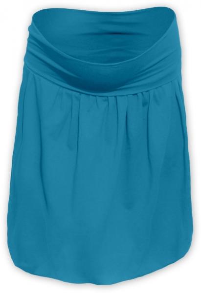Tehotenská sukňa z úpletu balónová - tm. tyrkys