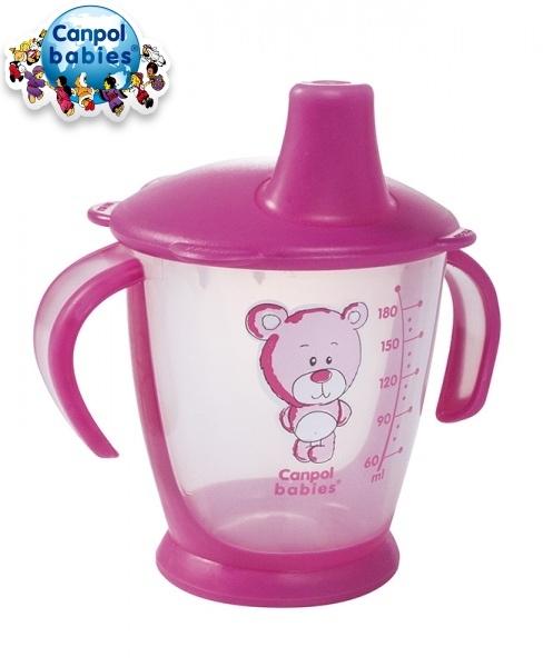 Hrnček Canpol Babies 31/500 Teddy Friend - ružový