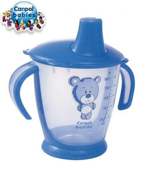 Hrnček Canpol Babies 31/500 Teddy Friend - modrý