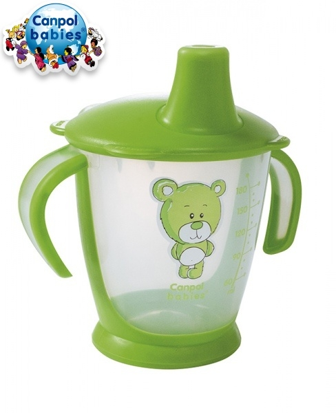 Hrnček Canpol Babies 31/500 Teddy Friend - zelený