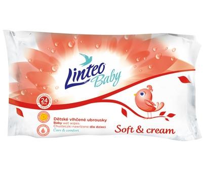 Vlhčené obrúsky LINTEO BABY Soft & cream