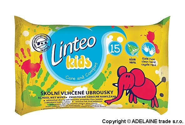 Vlhčené obrúsky LINTEO Kids - školské