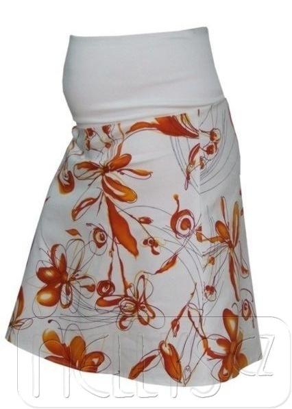 Tehotenská sukňa KYTIČKA - pomaranč