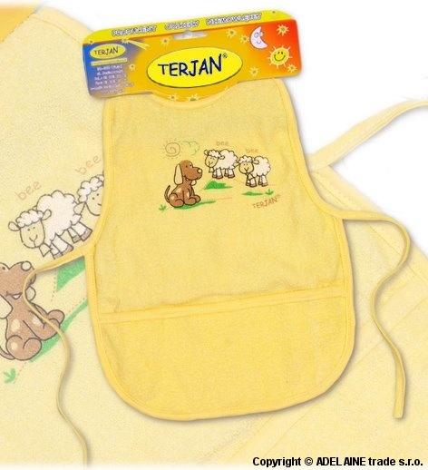 Podbradník/zásterka Terjan - krémovo žltý