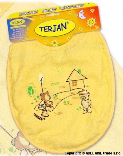Podbradník Terjan veľký - žltý/krémový