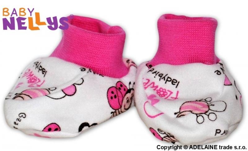 Topánočky / ponožtičky Baby Nellys ® - Lienka