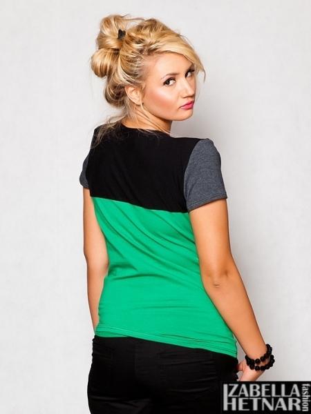 Tehotenské tričko krátky rukáv ANNA - zelené