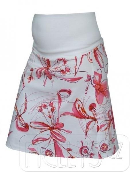 Tehotenská sukňa KYTIČKA - ružová