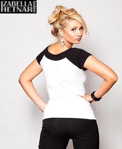 Tehotenské tričko krátky rukáv Kristal - biela