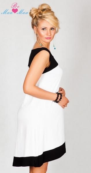 Tehotenské šaty HALINA - biele