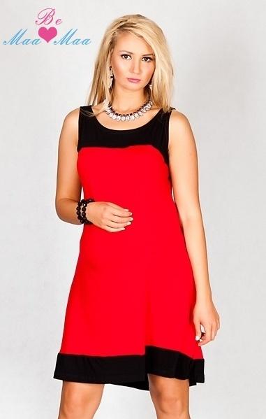 Tehotenské šaty HALINA - červené