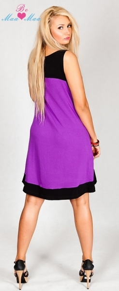 Be MaaMaa Tehotenské šaty HALINA - fialové