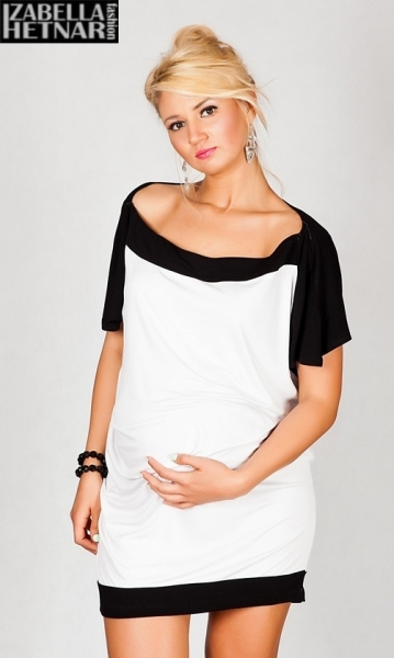 Tehotenské šaty/tunika STELLA - biele