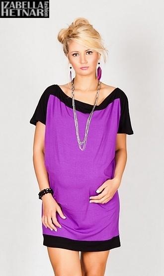 Tehotenské šaty / tunika STELLA - fialové