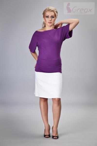 15ecd324ea2b Elegantná tehotenská sukňa DENIM - biela