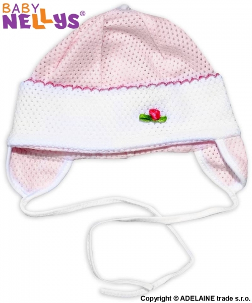 Čiapočka letná Baby Nellys® - ružová, veľ. 74/86