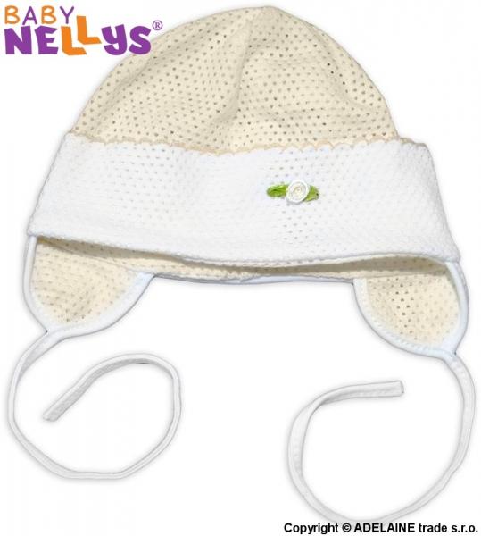 Čiapočka letná Baby Nellys® - krémová, veľ. 74/86