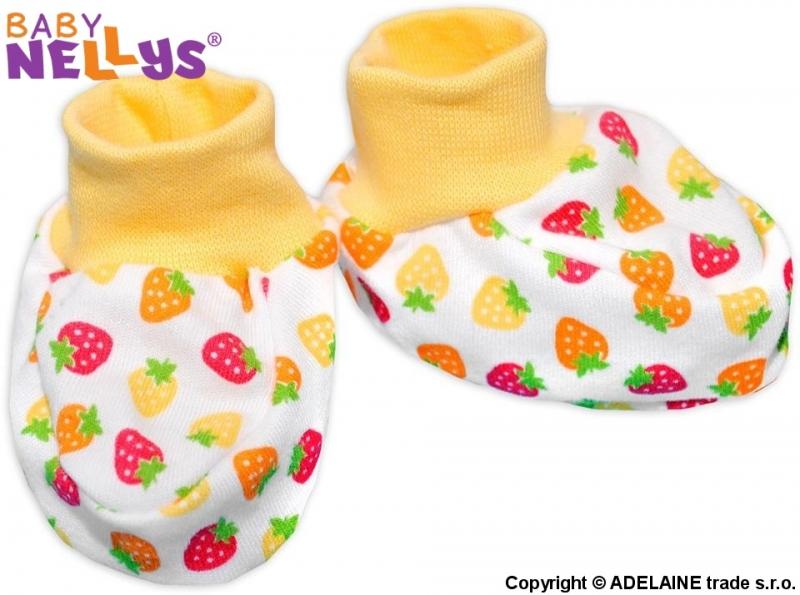 Topánočky / ponožtičky Baby Nellys ® - Jahôdka