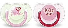 Cumlíky Avent - 6-18m - ružové Kiss me / tyrkys I love papa