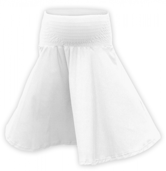 Tehotenská sukňa vzdušná kolesová  - biela