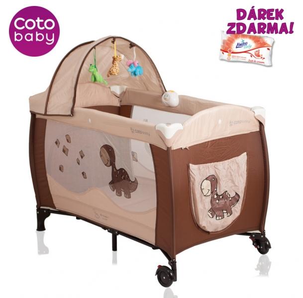 Cestovná postieľka SAMBA LUX DINO Coto Baby