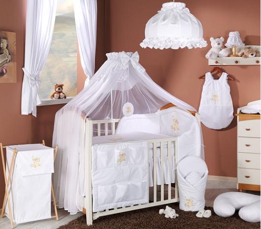 Luxusný mega set s moskytiérou - Mráček biely-135x100