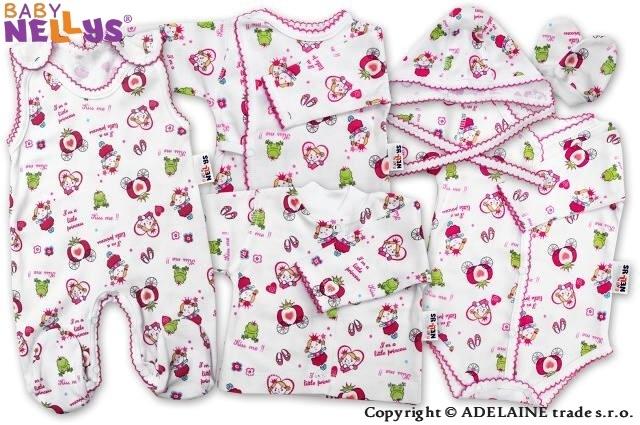 Soup. do pôrodnice 7D Baby Nellys® - Princezná ružová