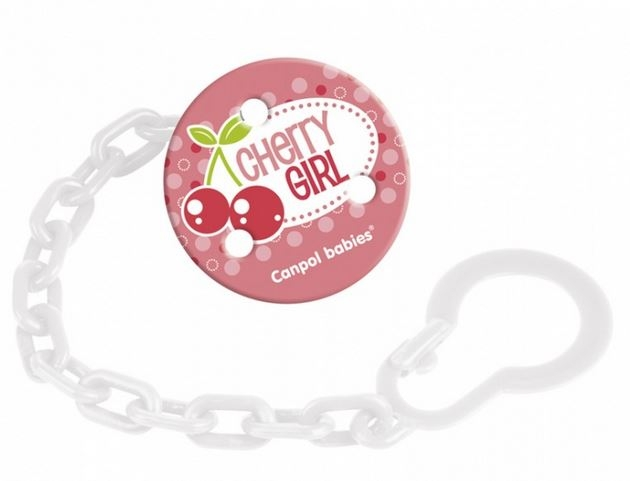 Retiazka na cumlík Canpol Babies - Ovocie - Cherry Girl