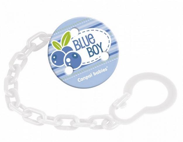 Retiazka na cumlík Canpol Babies - Ovocie - BLUE BOY