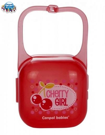 Puzdro na cumlík - červené CHERRY GIRL Canpol Babies