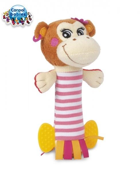 Plyšové hrkálka Canpol Babies - Opička PIRÁT HOLKA