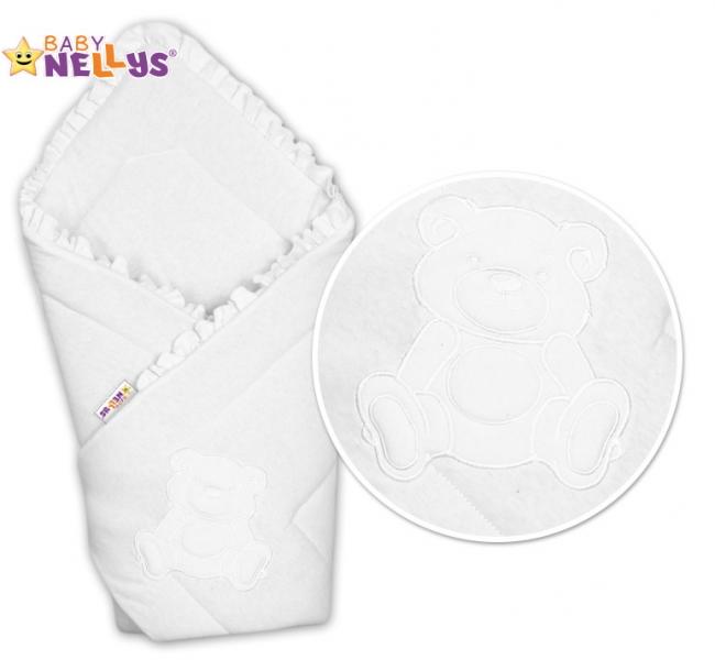 Zavinovačka Baby Nellys - Medvídek Teddy- jersey - biela