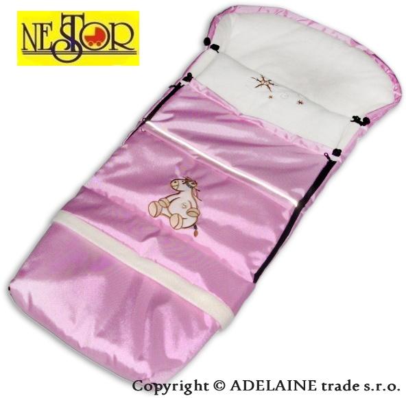 Fusak DINO LUX 90 / 110cm sv. ružový - polar